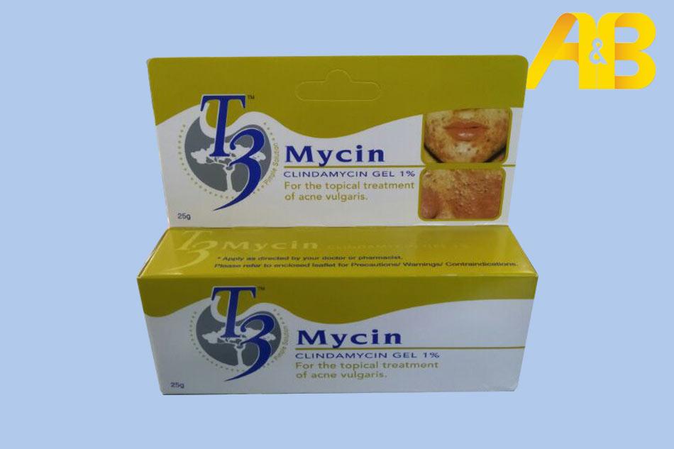 Gel trị mụn T3 Mycin chứa thành phần kháng sinh Clindamycin