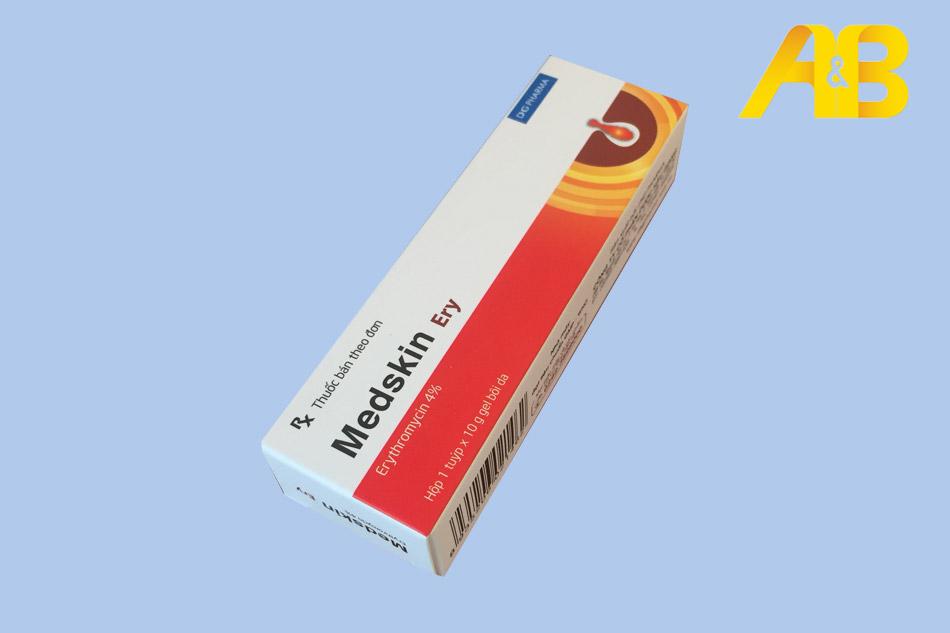 Hình ảnh hộp thuốc trị mụn Medskin Ery