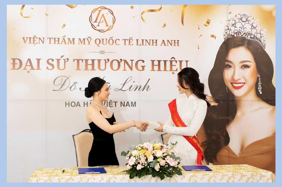 Hoa hậu Đỗ Mỹ Linh là đại sứ thương hiệu của Thẩm mỹ viện Linh Anh năm 2021