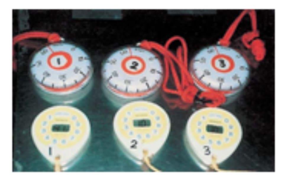 Hình 42-11 Đồng hồ bấm giờ để đo thời gian peel.