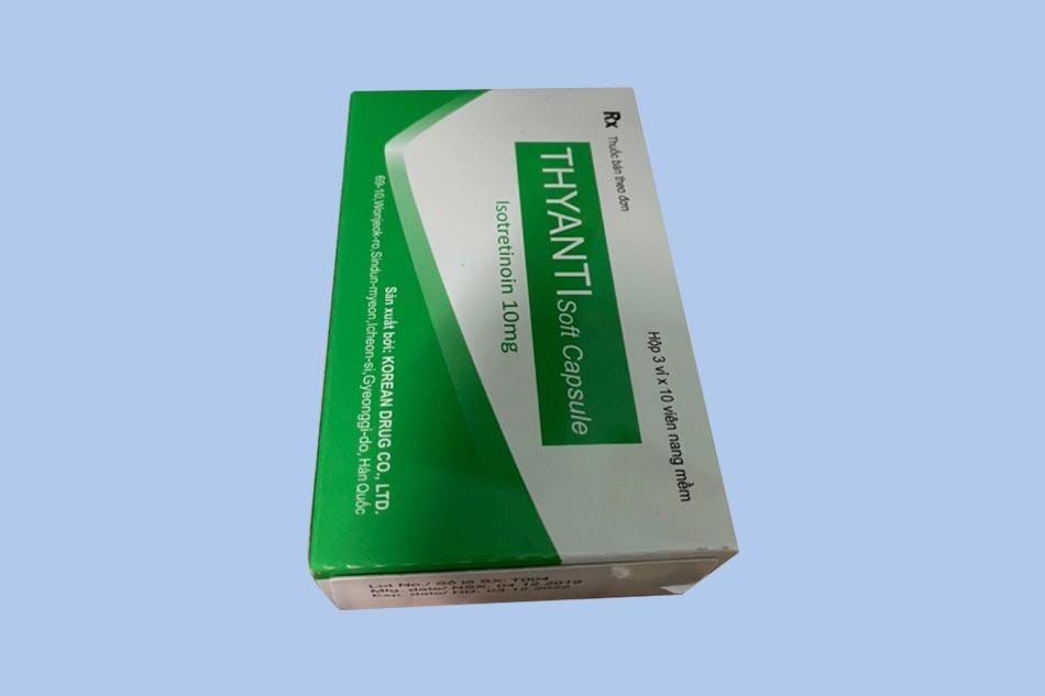 Hình ảnh hộp thuốc trị mụn Thyanti