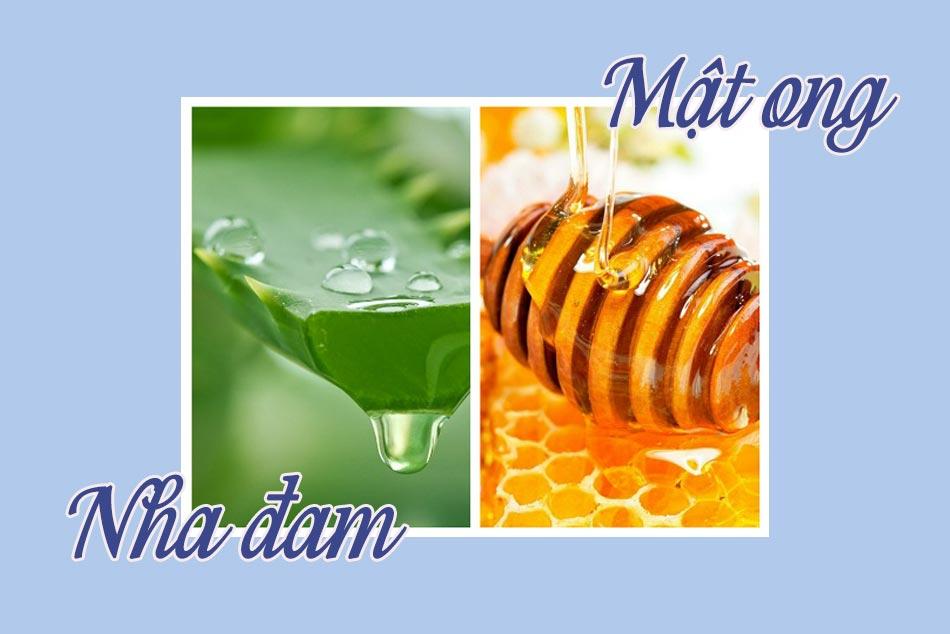 Cách trị sẹo thâm bằng mật ong và nha đam